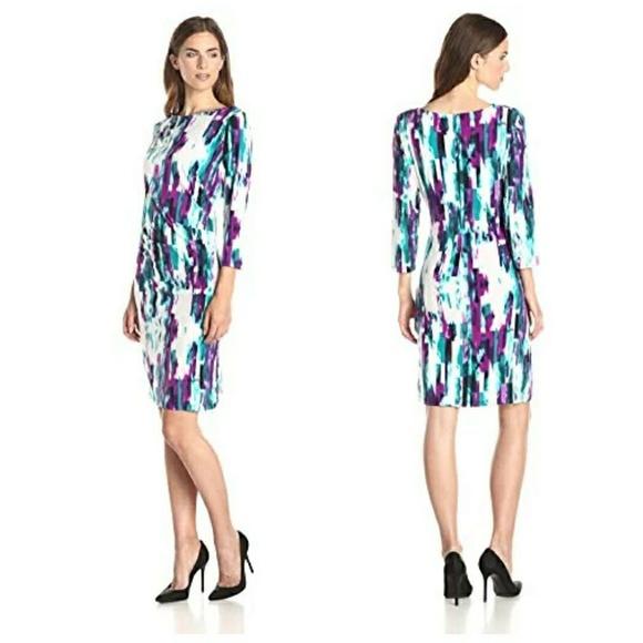 3078d7a0b013 Calvin Klein Dresses   Skirts - Calvin Klein Slimming Sheath Summer Dress  Purple M